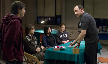 "Jim Sturgess, Jacobs Pitts, Aaron Yoo, Kate Bosworth and Kevin Spacey in ""21."""