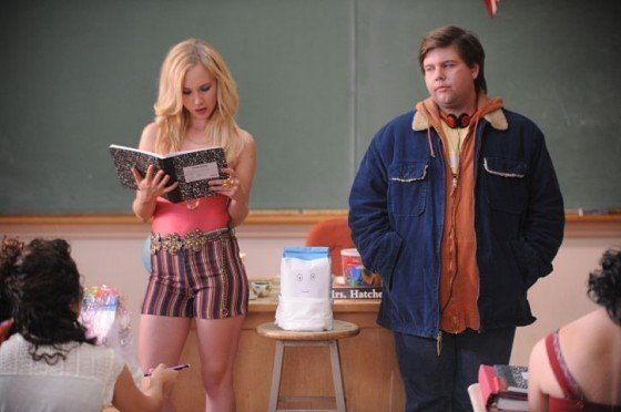 Juno Temple and Jeremy Dozier in the movie DIRTY GIRL.