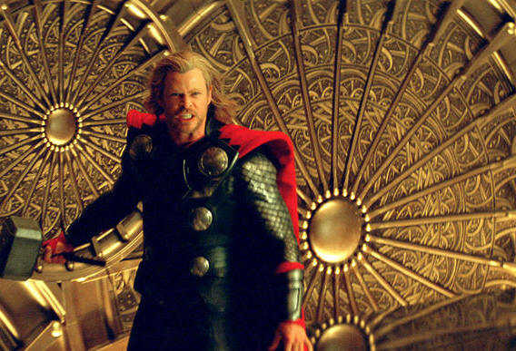 Chris Hemsworth in THOR.