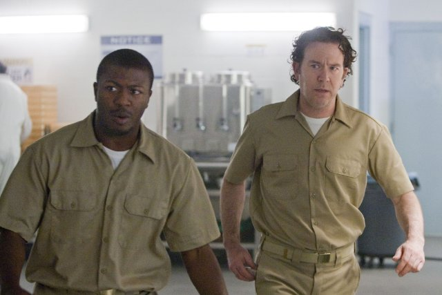 Aldis Hodge and Timothy Hutton in the TNT drama 'Leverage.'