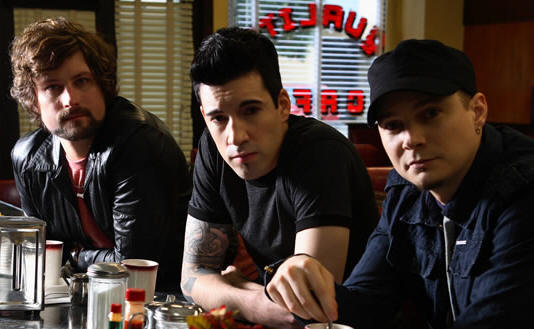 Theory of a Dead Man (l to r:  Dean Back, Tyler Connolly, Dave Brenner)