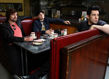 Theory of a Dead Man (l to r:  Dean Back, Dave Brenner, Tyler Connolly)