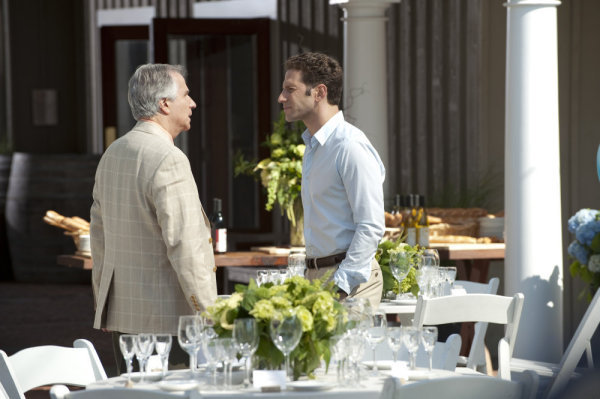"Royal Pains -- ""In Vino Veritas"" Episode 2006 -- Pictured: (l-r) Henry Winkler as Eddie R. Lawson, Mark Feuerstein as Hank Lawson -- USA Network Photo: David Giesbrecht"
