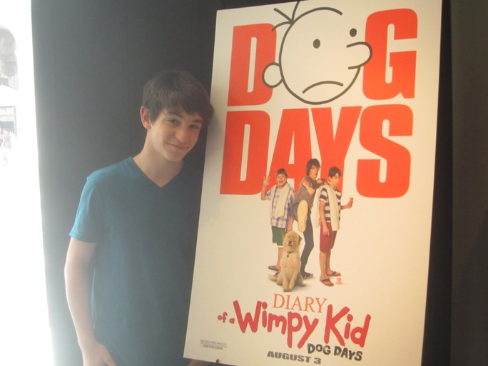 Zachary Gordon at the New York Press Day for Diary of a Wimpy Kid: Dog Days at the Andaz Hotel in New York, July 30, 2012.