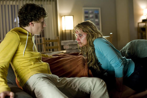 Jesse Eisenberg and Amber Heard in 'Zombieland.'